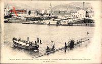 Sous Marin Gustave Zédé ayant a son bord Président Loubet, 11 Avril 1901