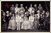 Les Lilliputiens, C.H. Schafer, Liliputaner, Gruppenfoto, Kostüme