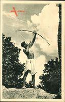 Indien, Inder mit Pfeil und Bogen, un santal de la mission de Patnavisant