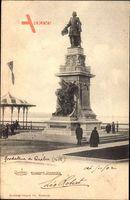 Québec Kanada, Monument Champlain, Denkmal, Passanten
