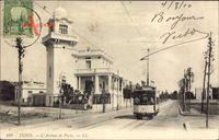 Tunis Tunesien, LAvenue de Paris, Straßenbahn 91