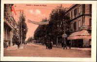 Tunis Tunesien, Avenue de Paris, Straßenpartie mit Geschäften