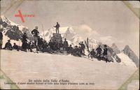 Un saluto dalla Valle dAosta, Compagnia dalpini skiatori italiani