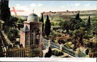 Jerusalem Israel, Jardin de Gethsemane, Blick in den Garten, Gebäude