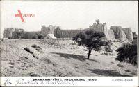 Hyderabad Indien, Blick auf Shamakai Fort, Festung, Zelt