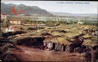 Jericho Palästina, General view, Blick auf den Ort, Berge, Hütten