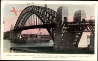 Sydney Australien, Harbour Bridge, largest single arch bridge in the world