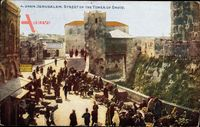Jerusalem Israel, Street of the Tower of David, Straßenpartie, Turm