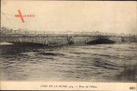 Paris, Crue de la Seine 1924, Pont de lAlma, Seinehochwasser, Brücke