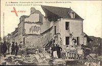Mamers Sarthe, Catastrophe du 7 juin 1904, vue prise du Moulin de la Ville