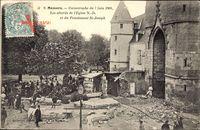 Mamers Sarthe, Catastrophe du 7 juin 1904, les abords de lEglise