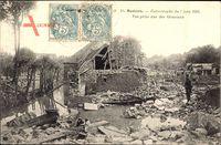 Mamers Sarthe, Catastrophe du 7 juin 1904, Vue prise rue des Ormeaux
