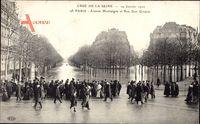 Paris, Crue de la Seine 19 Janvier 1910, Avenue Montaigne, Rue Jean Goujon