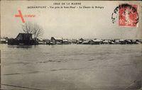 Champigny sur Marne Val de Marne, Crue de la Marne, vue prise de Saint Maur