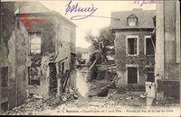 Mamers Sarthe, Catastrophe du 7 juin 1904, Percee au bas de la rue du Fort