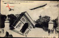 Paris, Enlevement de lArc de Triomphe de lEtoile, Zeppelin, Fotomontage