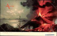Napoli Neapel Campania Italien, Erruzione del Vesuvio, Vulkanausbruch,Stengel