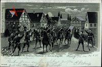 Mondschein Fröschweiler Bas Rhin, Der Kronprinz am Abend des 6. Aug. 1870