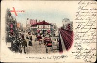 New York City USA, Herald Square, Platz, Straßenbahnen