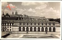 Praha Prag, Tyrsuv dum a Hradcany, Burg im Hintergrund