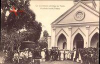 Tonkin Vietnam, Catholic burial, Katholisches Begräbnis, Kirche