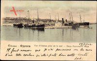 Odessa Ukraine, Vue prise de la mer, Blick auf den Hafen, Dampfer