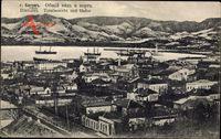 Batum Georgien, Totalansicht mit Hafen, Schiffe, Hausdächer