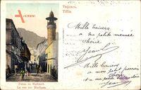 Tiflis Georgien, La rue sur Maidane, Straßenpartie, Minarett