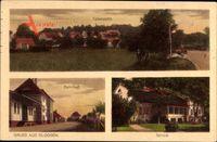 Głogusz Glogsen Sulechów Züllichau Ostbrandenburg, Bahnhof, Schloss