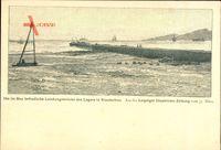 Kiaoutschou Jiaozhou China, Landungsbrücke des Lagers im Bau