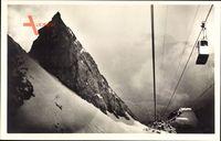 Blick aufs Sonnenspitzl und die Zugspitzbahn, Seilbahn, Gebirge