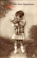 Die kleine Puppenmama, Kleines Mädchen mit Puppe, RPH 4818 3