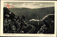 Brocken im Harz, Brockenbahn, Dampflokomotive, Eisenbahn
