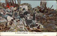 Messina Sicilia Sizilien Italien, Il disastro, al salvataggio dei sepolti