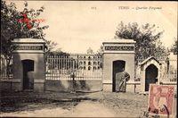 Tunis Tunesien, Quartier Forgemol, Toransicht, Zaun, Kaserne
