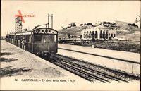 Carthage Karthago Tunesien, Le Quai de la Gare, Bahnsteig mit Eisenbahn