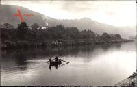Hranice na Moravě Mähr. Weißkirchen Reg. Olmütz, Ruderboot im Fluss