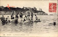 Dinard Ille et Vilaine, La Pointe de la Malouine, Badegäste