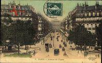 Paris, Avenue de lOpéra, Straßenkreuzung, Verkehr