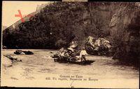Gorges du Tarn, Un rapide, Descente en Barque, Gondel im Fluss