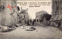 Messina Sicilia Sizilien, Terremoto, 28 Dicembre 1908, Via Placida