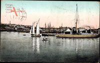 Odessa Ukraine, Le Port, Blick in den Hafen, Boote, Semaphore