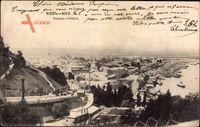 Kiew Ukraine, Podole, Totalansicht der Stadt, Hügel, Hafen