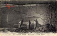 Exploitation souterraine dune Ardoisière, Abattage du Schiste, Schieferstein