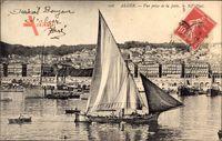 Alger Algerien, Vue prise de la Jetée, Segelboot im Hafen