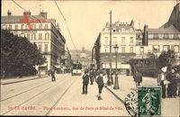 Le Havre Seine Maritime, Place Gambetta, Rue de Paris et l'Hotel de Ville
