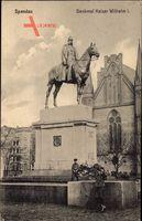 Berlin Spandau, Blick auf das Reiterdenkmal Kaiser Wilhelm I