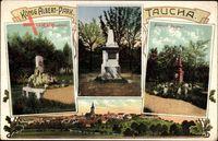 Taucha in Nordsachsen, König Albert Park, Bismarck Denkmal, Jahn Denkmal