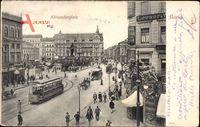 Berlin Mitte, Blick auf den Alexanderplatz, Straßenbahn