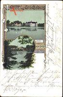 Glücksburg an der Ostsee, Blick auf das Schloss am See